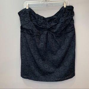 TORRID black lace strapless tube top, 4X.